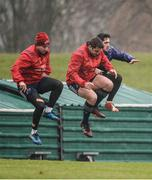 5 December 2016; Munster players Rory Scannell, CJ Stander and Greg O'Shea in action during squad training at the University of Limerick in Limerick. Photo by Diarmuid Greene/Sportsfile