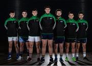 7 December 2016; In attendance at the Sigerson Independent.ie Higher Education GAA Senior Championship Launch & Draw are, from left, Cian O'Dea, from University of Limerick, Eamonn Brannigan, from GMIT, Damien Comer, from NUIG, Steven O'Brien, from Dublin City University Dóchas Éireann, Jack McCaffrey, from University College Dublin, Darragh McConnon, from IT Sligo, and Ryan McHugh, from Ulster University, at Croke Park in Dublin. Photo by Seb Daly/Sportsfile