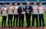 8 December 2016;  In attendance during the Bord na Móna Leinster GAA Series 2017 Launch at Croke Park in Dublin are, from left, Mickey Burke of Meath, Kieran Martin of Westmeath, Colm Begley of Laois, Pat Fitzgerald of Bord Na Mona, John Horan, Chairman of Leinster Council, Alan Mulhall of Offaly and Sean Gannon of Carlow. Photo by Sam Barnes/Sportsfile