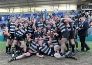 1 May 2011; The Old Belvedere RFC team celebrate victory. Ulster Bank League Division 1 Final, Cork Constitution RFC v  Old Belvedere RFC, Donnybrook Stadium, Dublin. Picture credit: Matt Browne / SPORTSFILE