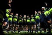 9 December 2016; Jamie Heaslip speaks to his Leinster team-mates following the European Rugby Champions Cup Pool 4 Round 3 match between Northampton Saints and Leinster at Franklin's Gardens in Northampton, England. Photo by Stephen McCarthy/Sportsfile