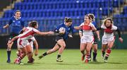 10 December 2016; Katie Fitzhenry of Leinster goes past the Ulster defence during the Women's Interprovincial Rugby Championship Round 2 match between Leinster and Ulster at Donnybrook Stadium in Dublin. Photo by Matt Browne/Sportsfile