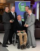 6 May 2011; Legends of Gaelic Games who were honoured at the Cadbury Gaelic Writers Awards, clockwise, from left, Martin Storey, Wexford, Richie Bennis, Limerick, Nicky English, Tipperary, Martin McHugh, Donegal and Matt Connor, Offaly. 2011 Cadbury Gaelic Writers Association Awards, Louis Fitzgerald Hotel, Clondalkin, Dublin. Picture credit: Brendan Moran / SPORTSFILE