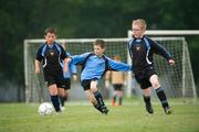 7 May 2011; Josh Roche, Belvedere F.C., in action against Lorcan Dunne, Phoenix F.C.. U9 A Saturday - 7 a-side,  Belvedere F.C. v Phoenix F.C., Fairview Park, Fairview, Dublin. Picture credit: Ray McManus / SPORTSFILE