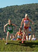 11 December 2016; Fionnuala McCormack, left, of Ireland and Karoline Grovdal-Bjerkeli of Norway in action during the Women's senior race at the 2016 Spar European Cross Country Championships in Chia, Italy. Photo by Eóin Noonan/Sportsfile