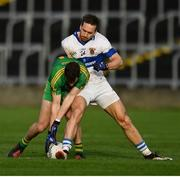11 December 2016; Niall McNamee of Rhode is tackled by Nathan Mullins of St. Vincent's during the AIB GAA Football Senior Club Championship Final match between Rhode and St Vincent's at O'Moore Park in Portlaoise, Co. Laois. Photo by Ramsey Cardy/Sportsfile