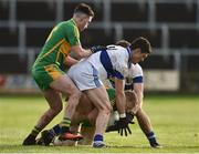 11 December 2016; Diarmuid Connolly and Shane Carthy of St Vincent's in action against Niall Darby and Eóin Rigney of Rhode during the AIB GAA Football Senior Club Championship Final match between Rhode and St Vincent's at O'Moore Park in Portlaoise, Co. Laois. Photo by David Maher/Sportsfile