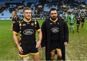 11 December 2016; Jimmy Gopperth, left, and Marty Moore of Wasps following the European Rugby Champions Cup Pool 2 Round 3 match between Wasps and Connacht at the Ricoh Arena in Coventry, England. Photo by Stephen McCarthy/Sportsfile