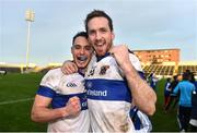 11 December 2016; St Vincent's Shane Carthy, left, and Nathan Mullins celebrate following their victory in the AIB GAA Football Senior Club Championship Final match between Rhode and St Vincent's at O'Moore Park in Portlaoise, Co. Laois. Photo by Ramsey Cardy/Sportsfile