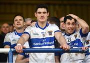 11 December 2016; St Vincent's captain Diarmuid Connolly prepares to lift the cup following their victory in the AIB GAA Football Senior Club Championship Final match between Rhode and St Vincent's at O'Moore Park in Portlaoise, Co. Laois. Photo by Ramsey Cardy/Sportsfile