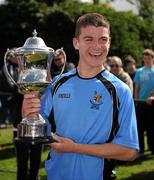 8 May 2011; Belvedere FC captain Darragh Lenihan with the Paul McGrath cup. Dublin and District Schoollboys League Finals, Paul McGrath Cup Final, Belvedere FC v St Joseph's Boys FC, A.U.L. Complex, Clonshaugh, Dublin. Picture credit: Ray McManus / SPORTSFILE