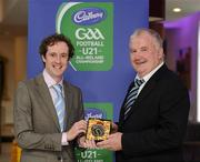 6 May 2011; Former Limerick manager Richie Bennis, left, is presented with a momento by Peter Sweeney, Secretary of the Gaelic Writers Association, after being honoured at the Cadbury Gaelic Writers Association Awards. 2011 Cadbury's Gaelic Writers Association Awards, Louis Fitzgerald Hotel, Clondalkin, Dublin. Picture credit: Brendan Moran / SPORTSFILE