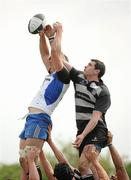 1 May 2011; Brian Hayes, Cork Constitution, and Richie Leyden, Old Belvedere, contest a lineout. Ulster Bank League Division 1 Final, Cork Constitution RFC v  Old Belvedere RFC, Donnybrook Stadium, Dublin. Picture credit: Stephen McCarthy / SPORTSFILE