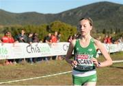 11 December 2016; Jodie McCann of Ireland in action during the womens U20 race at 2016 Spar European Cross Country Championships in Chia, Italy. Photo by Eóin Noonan/Sportsfile
