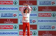11 December 2016; Sofia Ennaoui of Poland who came first place in the womens under 23 race during the medal presentation at the 2016 Spar European Cross Country Championships in Chia, Italy. Photo by Eóin Noonan/Sportsfile