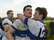 11 December 2016; Diarmuid Connolly and Cormac Diamond of St Vincent's celebrate at the end of the AIB GAA Football Senior Club Championship Final match between Rhode and St Vincent's at O'Moore Park in Portlaoise, Co. Laois. Photo by David Maher/Sportsfile