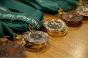 10 December 2016; A detailed view of medals during the Combined Events Schools International games at Athlone IT in Co. Westmeath. Photo by Cody Glenn/Sportsfile