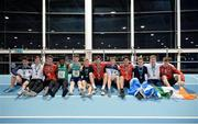 10 December 2016; Competitors from Ireland, England, Scotland and Wales following the Combined Events Schools International games at Athlone IT in Co. Westmeath. Photo by Cody Glenn/Sportsfile