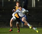 17 December 2016; Damien Comer of Connacht in action against Peter Harte of Ulster  during the GAA Interprovincial Football Championship Final match between Connacht and Ulster at Páirc Seán Mac Diarmada, Carrick-on-Shannon, Leitrim. Photo by David Maher/Sportsfile