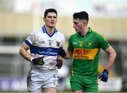 11 December 2016; Diarmuid Connolly of St. Vincent's in action against Eoin Rigney of Rhode during the AIB GAA Football Senior Club Championship Final match between Rhode and St Vincent's at O'Moore Park in Portlaoise, Co. Laois. Photo by Ramsey Cardy/Sportsfile