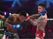 16 December 2016; James Gallagher, right, in action against Anthony Taylor during their featherweight bout at Bellator169 in the 3 Arena in Dublin. Photo by Ramsey Cardy/Sportsfile