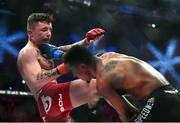 16 December 2016; James Gallagher, left, in action against Anthony Taylor during their featherweight bout at Bellator169 in the 3 Arena in Dublin. Photo by Ramsey Cardy/Sportsfile