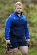 19 December 2016; Jeremy Loughman of Leinster arrives ahead of squad training at UCD in Belfield, Dublin. Photo by Seb Daly/Sportsfile