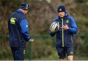 19 December 2016; Leinster backs coach Girvan Dempsey, right, and head coach Leo Cullen, left, during squad training at UCD in Belfield, Dublin. Photo by Seb Daly/Sportsfile