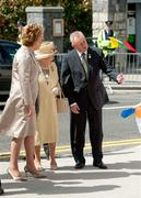 18 May 2011; HM Queen Elizabeth II is greeted by President Mary McAleese and Uachtarán CLG Criostóir Ó Cuana as she arrives for their visit to Croke Park. State Visit to Ireland by HM Queen Elizabeth II and HRH the Duke of Edinburgh, Croke Park, Dublin. Picture credit: Brian Lawless / SPORTSFILE