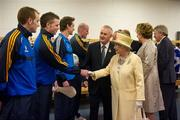 18 May 2011; Padraic Maher, Tipperary, is introduced to HM Queen Elizabeth II by Uachtarán CLG Criostóir Ó Cuana during their tour of Croke Park. State Visit to Ireland by HM Queen Elizabeth II and HRH the Duke of Edinburgh, Croke Park, Dublin. Picture credit: Ray McManus / SPORTSFILE