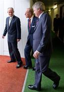 18 May 2011; Dr. Martin McAleese, and HRH the Duke of Edinburgh are escorted by Ard Stiúrthóir of the GAA Páraic Duffy on their arrival at Croke Park. State Visit to Ireland by Her Majesty Queen Elizabeth II & His Royal Highness The Duke of Edinburgh, Croke Park, Dublin. Picture credit: Ray McManus / SPORTSFILE