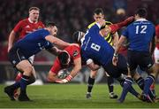 26 December 2016; Jean Kleyn of Munster is tackled by Rhys Ruddock of Leinster during the Guinness PRO12 Round 11 match between Munster and Leinster at Thomond Park in Limerick. Photo by Brendan Moran/Sportsfile