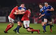 26 December 2016; Tadhg Furlong of Leinster is tackled by CJ Stander, left, and Jean Kleyn of Munster during the Guinness PRO12 Round 11 match between Munster and Leinster at Thomond Park in Limerick. Photo by Stephen McCarthy/Sportsfile