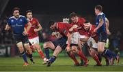 26 December 2016; Jean Kleyn of Munster is tackled by James Tracy of Leinster during the Guinness PRO12 Round 11 match between Munster and Leinster at Thomond Park in Limerick. Photo by Brendan Moran/Sportsfile