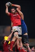 26 December 2016; Jean Kleyn of Munster wins a lineout from Ross Molony of Leinster during the Guinness PRO12 Round 11 match between Munster and Leinster at Thomond Park in Limerick. Photo by Brendan Moran/Sportsfile