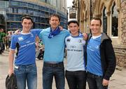 21 May 2011; Leinster supporters Tom Scully, Kevin Fitzpatrick, Philip Scully and Brian Scully, all from Portlaoise, Co. Laois, in Cardiff for the game. Heineken Cup Final, Leinster v Northampton Saints, Millennium Stadium, Cardiff, Wales. Picture credit: Ray McManus / SPORTSFILE