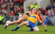 22 May 2011; Martin McMahon, Clare, in action against Aidan Walsh, Cork. Munster GAA Football Senior Championship Quarter-Final, Cork v Clare, Pairc Ui Chaoimh, Cork. Picture credit: Pat Murphy / SPORTSFILE