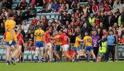 22 May 2011; Players from both teams involved in a scuffle after Graham Kelly, Clare, 10, was sent off. Munster GAA Football Senior Championship Quarter-Final, Cork v Clare, Pairc Ui Chaoimh, Cork. Picture credit: Pat Murphy / SPORTSFILE