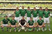 24 May 2011; Republic of Ireland team, back row, from left to right, Paul McShane, Damien Delaney, Stephen Ward, Keith Andrews, Stephen Kelly and Keith Treacy. Front row, left to right, Seamus Coleman, Kevin Foley, Shay Given, Robbie Keane and Simon Cox. Carling Four Nations Tournament, Republic of Ireland v Northern Ireland, Aviva Stadium, Lansdowne Road, Dublin. Picture credit: David Maher / SPORTSFILE