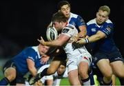 31 December 2016; John Andrew of Ulster is tackled by Jeremy Loughman, right, and Noel Reid of Leinster during the Guinness PRO12 Round 12 match between Leinster and Ulster at the RDS Arena in Dublin. Photo by David Fitzgerald/Sportsfile