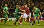 31 December 2016; Francis Saili of Munster is tackled by Peter Robb of Connacht during the Guinness PRO12 Round 12 match between Connacht and Munster at Sportsground in Galway. Photo by Diarmuid Greene/Sportsfile