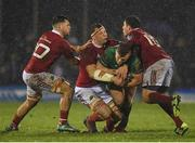 31 December 2016; Peter Robb of Connacht is tackled by Conor Oliver, Robin Copeland and Ian Keatley of Munster during the Guinness PRO12 Round 12 match between Connacht and Munster at Sportsground in Galway. Photo by Brendan Moran/Sportsfile