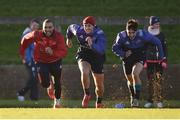 2 January 2017; Munster players Simon Zebo, Dan Goggin and Greg O'Shea in action during squad training at University of Limerick in Limerick. Photo by Diarmuid Greene/Sportsfile