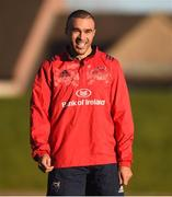 2 January 2017; Simon Zebo of Munster during squad training at University of Limerick in Limerick. Photo by Diarmuid Greene/Sportsfile