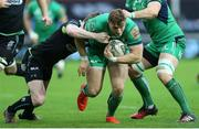 7 January 2017; Peter Robb of Connacht is tackled by Olly Cracknell of Ospreys during the Guinness PRO12 Round 13 match between Ospreys and Connacht at Liberty Stadium  in Swansea, Wales. Photo by Chris Fairweather/Sportsifle