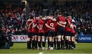 7 January 2017; Munster players during a minutes applause in memory of the late Munster Rugby head coach Anthony 'Axel' Foley prior to the European Rugby Champions Cup Pool 1 Round 1 match between Racing 92 and Munster at the Stade Yves-Du-Manoir in Paris, France. Photo by Stephen McCarthy/Sportsfile