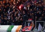 7 January 2017; Supportrers during a minutes applause in memory of the late Munster Rugby head coach Anthony 'Axel' Foley prior to the European Rugby Champions Cup Pool 1 Round 1 match between Racing 92 and Munster at the Stade Yves-Du-Manoir in Paris, France. Photo by Stephen McCarthy/Sportsfile