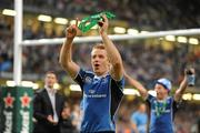 21 May 2011; Luke Fitzgerald, Leinster, celebrates his side's victory. Heineken Cup Final, Leinster v Northampton Saints, Millennium Stadium, Cardiff, Wales. Picture credit: Ray McManus / SPORTSFILE