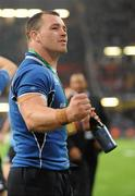 21 May 2011; Cian Healy, Leinster, celebrates his side's victory. Heineken Cup Final, Leinster v Northampton Saints, Millennium Stadium, Cardiff, Wales. Picture credit: Ray McManus / SPORTSFILE