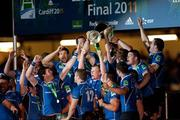 21 May 2011; The Leinster players celebrate with the cup. Heineken Cup Final, Leinster v Northampton Saints, Millennium Stadium, Cardiff, Wales. Picture credit: Matt Browne / SPORTSFILE